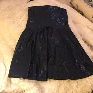 American apparel disco blue tunic/high waist skirt